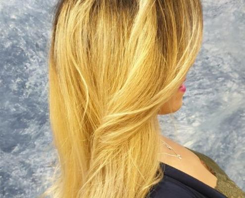 balayage en cabello rubio en barcelona